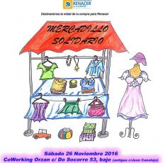 Mercadillo solidario en favor de Renacer